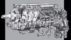 Rolls-Royce Merlin cutaway Aircraft Engine, Ww2 Aircraft, Fighter Aircraft, Military Aircraft, Rolls Royce Merlin, Plane And Pilot, Future Transportation, P51 Mustang, Supermarine Spitfire