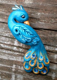 polymer clay peacock - Google Search