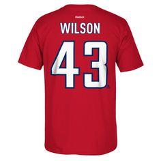e440bcf6b Washington Capitals Tom Wilson  43 Red Name  amp  Number Reebok Tee Red  Names