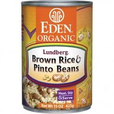 Organic Brown Rice and Pinto Beans - brown rice, pinto beans, onion, garlic, sea salt