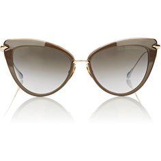 Dita Heartbreaker Sunglasses ($525) ❤ liked on Polyvore featuring accessories, eyewear, sunglasses, multi, uv protection glasses, mirrored glasses, mirrored sunglasses, dita eyewear and cat eye glasses