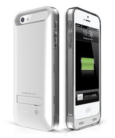 Love this White & Silver Protective Battery Case for iPhone 5/5s by Prolix USA on #zulily! #zulilyfinds