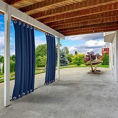 Outdoor Drapes, Outdoor Patio Bar, Back Patio, Black Gazebo, Balcony Curtains, Balcony Lighting, Grommet Curtains, Colorful Curtains, Pergola