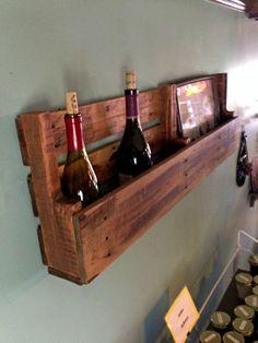 reclaimed pallet wood shelf wine rack magazine by RAWOODESIGNS