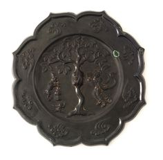 Foliated mirror with Chang'e (the Moon goddess), hare, toad, tree, and clouds - Bronze Chinese Style, Chinese Art, Bronze Mirror, Moon Goddess, Toad, Art Google, Hare, Objects, Clouds