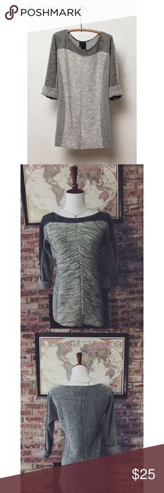 """Anthropologie Lottie Pullover by Dolan (Small) """"When it comes to basics, we can't get enough of easy, thoughtful pieces that go beyond the call of casual duty, such as this wonderfully soft pullover from Dolan. Pullover styling. Rayon, polyester, cotton."""" Incredibly comfortable cute pullover that was lightly worn. Anthropologie Tops"""