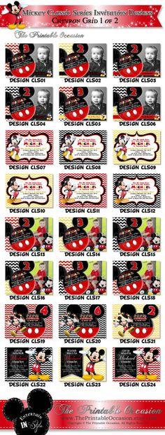 Items similar to HUGE SELECTION Chevron Mickey Mouse Photo Invitation, Mickey Birthday Invitation, Mickey Mouse Clubhouse, Mickey Printables on Etsy Mickey Mouse Birthday Invitations, Mickey Mouse Clubhouse Birthday, Mickey Birthday, Chevron Birthday, Photo Invitations, Printable Invitations, Invites, Mickey Printables, Party Printables