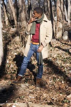 This surely will become a borrowed look for this winter. A+ for the Bean Boots. Fresh Outfits, Casual Outfits, Men Casual, Smart Casual, Fall Outfits, Sharp Dressed Man, Well Dressed Men, Street Etiquette, Ll Bean Boots