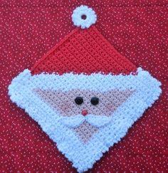 Santa Potholder Crochet PATTERN  INSTANT by WhiskersAndWool, $2.50