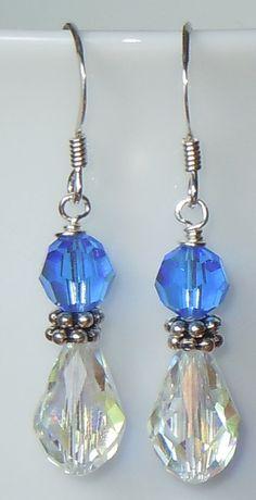 Swarovski Crystal Beaded Earrings  You choose by BestBuyDesigns, $12.00