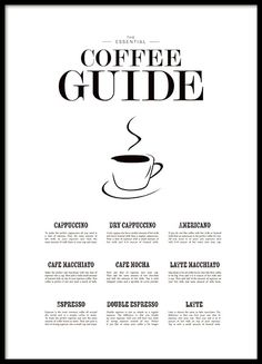 Coffee Guide - 30x40May your coffee be strong - 30x40...