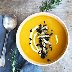 This Butternut Squash Soup with Wild Rice looks amazing!