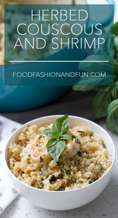 Herbed Couscous with Shrimp