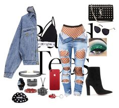 """""""Band Night Out🖤"""" by shanclampett on Polyvore featuring Fear of God, Gianvito Rossi, Yves Saint Laurent, LULUS, White House Black Market, AC/DC and RED Valentino"""