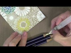 Hero Arts 2013 Debut with Jennifer Mcguire, video run 8:04.  Jennifer shows great ways to use inktense pencils to color in this background stamp.