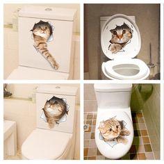 Cat Fridge/Wall/Toilet Sticker Decal