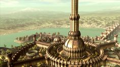 The White Tower in the Imperial City, from Elder Scrolls IV: Oblivion, by Bethesda Softworks, 2006