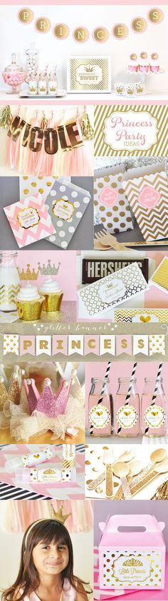 Princess Party Decorations Package - great ideas for princess party decor at a birthday party or royal princess baby shower by Mod Party