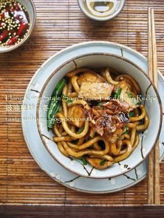 Hong Kong Soy SAuce Udon with Fish Cakes from smoky Wok - I want this for dinner today...