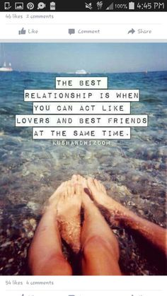 """Love Quotes Ideas : """"The best relationship is when you can act like lovers and best friends at the s. - Quotes Sayings Great Quotes, Inspirational Quotes, Motivational Quotes, Positive Quotes, Missing Quotes, Super Quotes, Hopeless Romantic, Married Life, Best Relationship"""