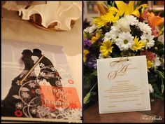 wedding guest book and invitation wedding