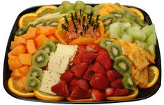fruit platter ideas   Fruit u0026 Cheese Tray & Love the fanned out cheese slices. Dierbergs - Classic Meat u0026 Cheese ...