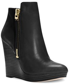 Michael Kors Clara Platform Wedge Booties -> what a luxury, I LOVE these!! Too bad they're $$$$$