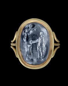 Roman sapphire intaglio