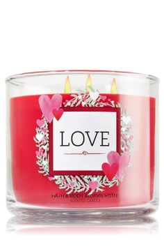 Check out this deal at Bath & Body Works! Today only, get this LOVE 3-Wick Candle for only $10.00! Normally $22.50! AND, you can get Free Shipping with any $10.00 purchase when you use promo code HEY10! If you want this, grab this deal now! Don't miss out!