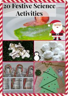 20 Festive Science ideas for kids #Christmas #Science includes candy cane oobleck, fizzing Christmas trees and lots more.