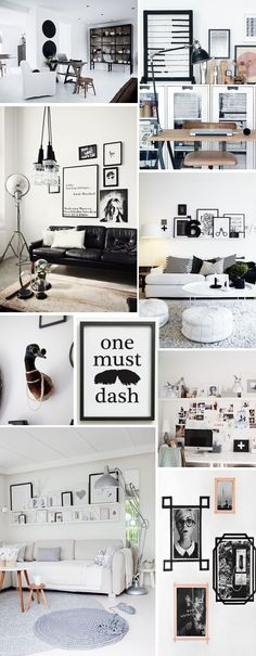 Fashion Manifest interior inspiration collage. Nordic living and cool posters