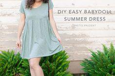 DIY Easy Babydoll Summer Dress (with Pattern)