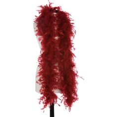 Burgundy 40 Gram Chandelle Feather Boas