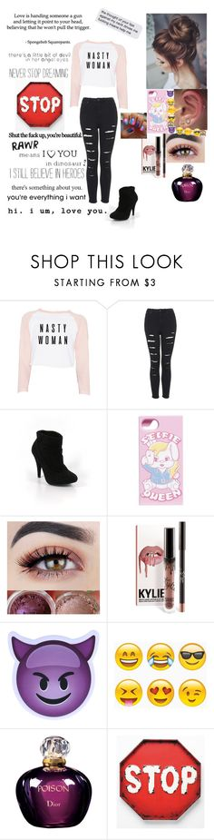 """""""Untitled #560"""" by danielle-grenfell ❤ liked on Polyvore featuring Topshop, Bakers, Ground-Zero, Christian Dior, Love Quotes Scarves, Hickey and Chanel"""