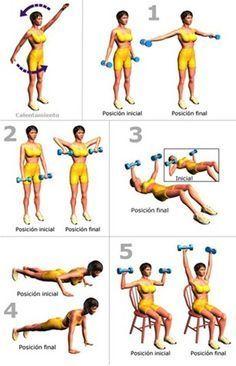 ejercicios para quemar grasa en brazos y espalda