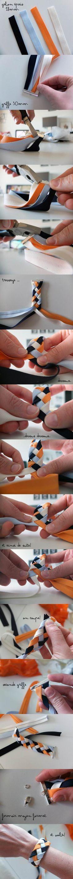 How to DIY 4 Strand Braided Ribbon Bracelet | iCreativeIdeas.com Follow Us on Facebook --> https://www.facebook.com/icreativeideas