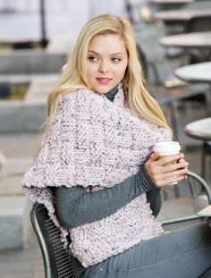 """FINISHED MEASUREMENTS Length: 86"""" Width: 13"""" MATERIALS Premier Yarns® Mega® Tweed Super Bulky (97% acrylic, 3% viscose; 170 gm/74 yds) • #1007-14 Pink Rose Tweed – 4 skeins Needle: Size 17 (12 mm) knitting needles or size needed to obtain gauge Notions: Tapestry needle GAUGE 6 sts x 10 rows = 4"""" Save time, check your gauge."""
