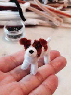 Pipe cleaner Jack Russell Terrier.Pipe cleaner artist,Atsushi Kitanaka.