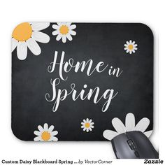 Custom Daisy Blackboard Spring Season Event Mouse Pad