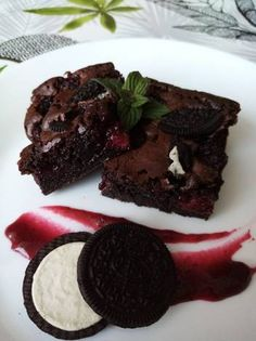Szedres-Oreós brownie Oreo, Food, Meals, Yemek, Eten
