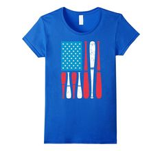 Baseball Flag July 4th T-Shirt