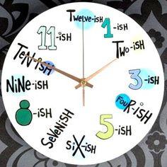 A cool funny text-ish wall clock