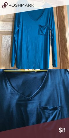 Cute bluish colored shirt Size xl, it's a different color of blue but very unique cute color light weight Tops