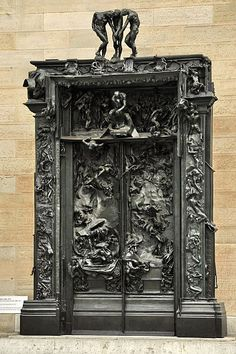 "The Gates of Hell (French: La Porte de l'Enfer) by French artist Auguste Rodin that depicts a scene from ""The Inferno"", the first section of Dante Alighieri's Divine Comedy.I got to see this at the Rodin Museum last summer. Cool Doors, The Doors, Unique Doors, Windows And Doors, Auguste Rodin, Art And Architecture, Architecture Details, Tor Design, Gates Of Hell"