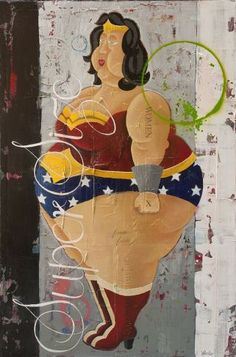 """""""Super Size"""", acrylic on canvas by artist Rock Therrien..  Only available at Galerie Saint-Dizier!"""