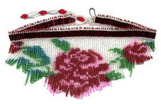 Rose White Fringe Necklace Choker Beading pattern and kit. (Click on the picture to see this item on our website). $17.95