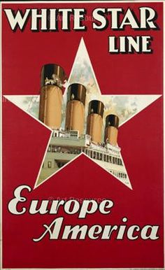 History of Vessels Travel Ads - US Lines - Cunard - White Star Titanic Sinking, Titanic Ship, Rms Titanic, Vintage Advertisements, Vintage Ads, Photo Deco, Advertising Poster, Ship Art, Vintage Travel Posters