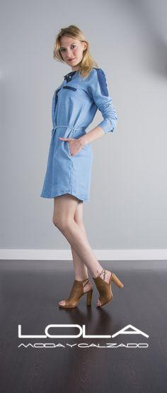 Te lo vas a poner un montón, y lo sabes.  Pincha este enlace para comprar tu vestido en nuestra tienda on line.  http://lolamodaycalzado.es/primavera-verano/596-vestido-vaquero-con-cinturon-salsa.html