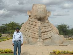 Single stone carved Nandi at Lepakshi, Ananthapur, India.