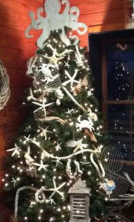 Coastal tree Seaside Surroundings from Kiwi Cottage Christmas Ships, Nautical Christmas, Unique Christmas Trees, Beach Christmas, All Things Christmas, Christmas Tree Decorations, Christmas Holidays, Beach Holiday, Merry Christmas